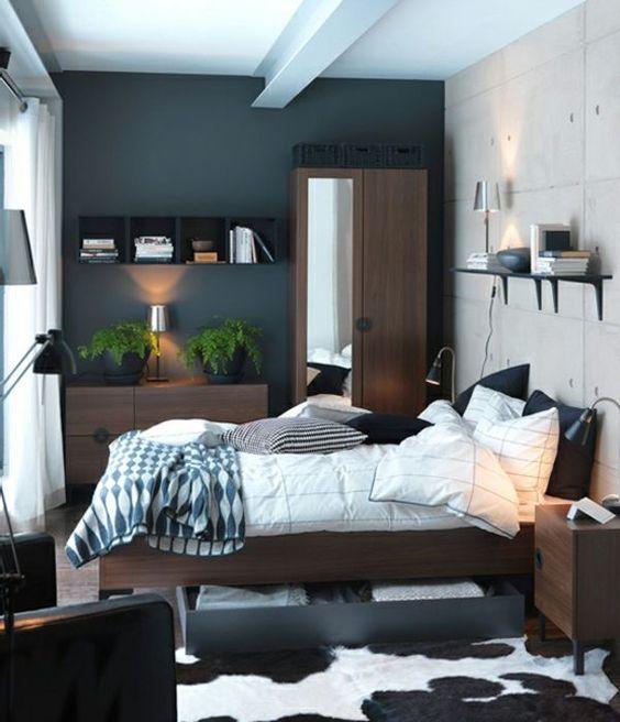 beautiful furnished grey urban styled bedroom
