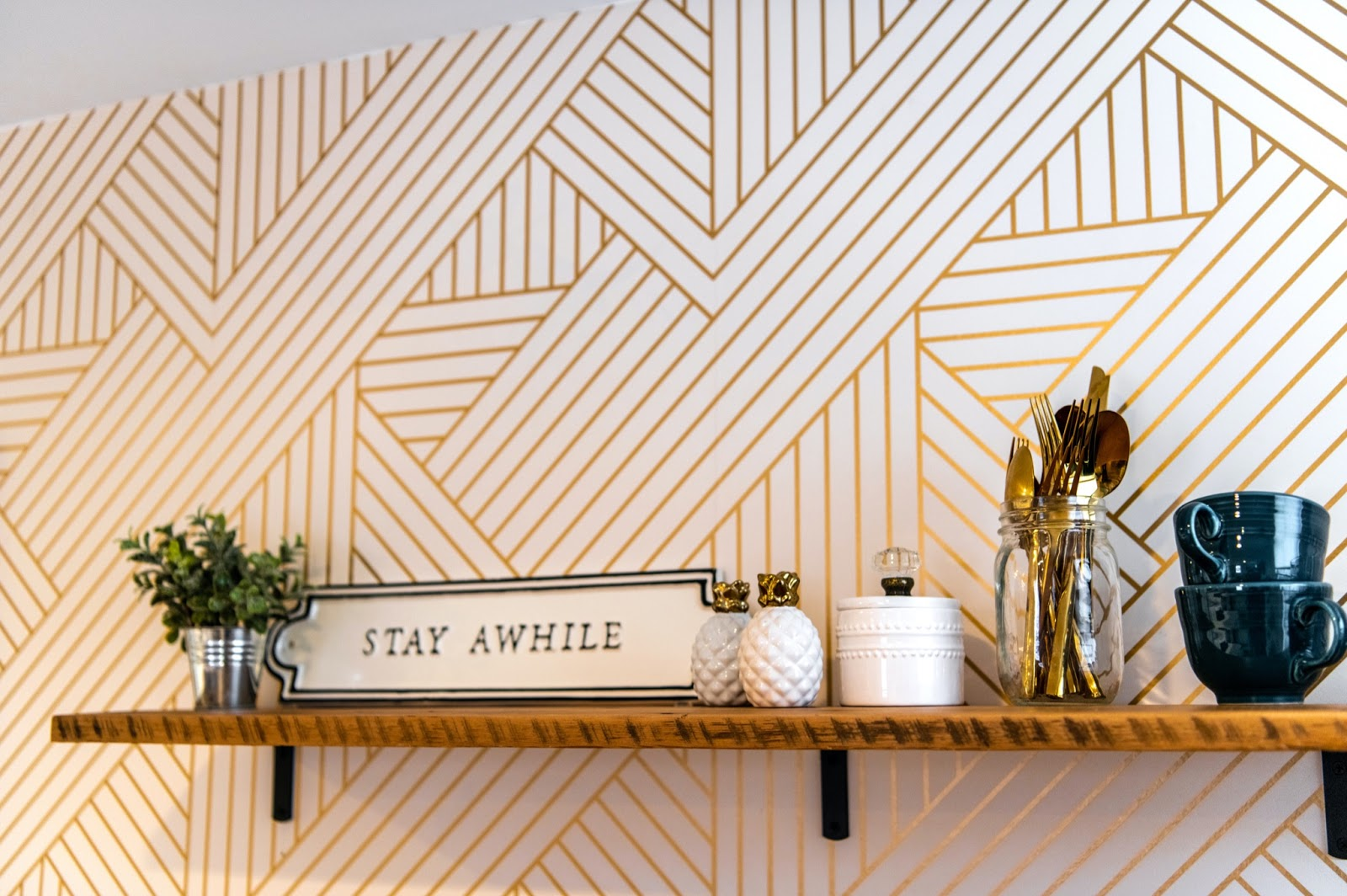 Wall Decor that reads Stay Awake
