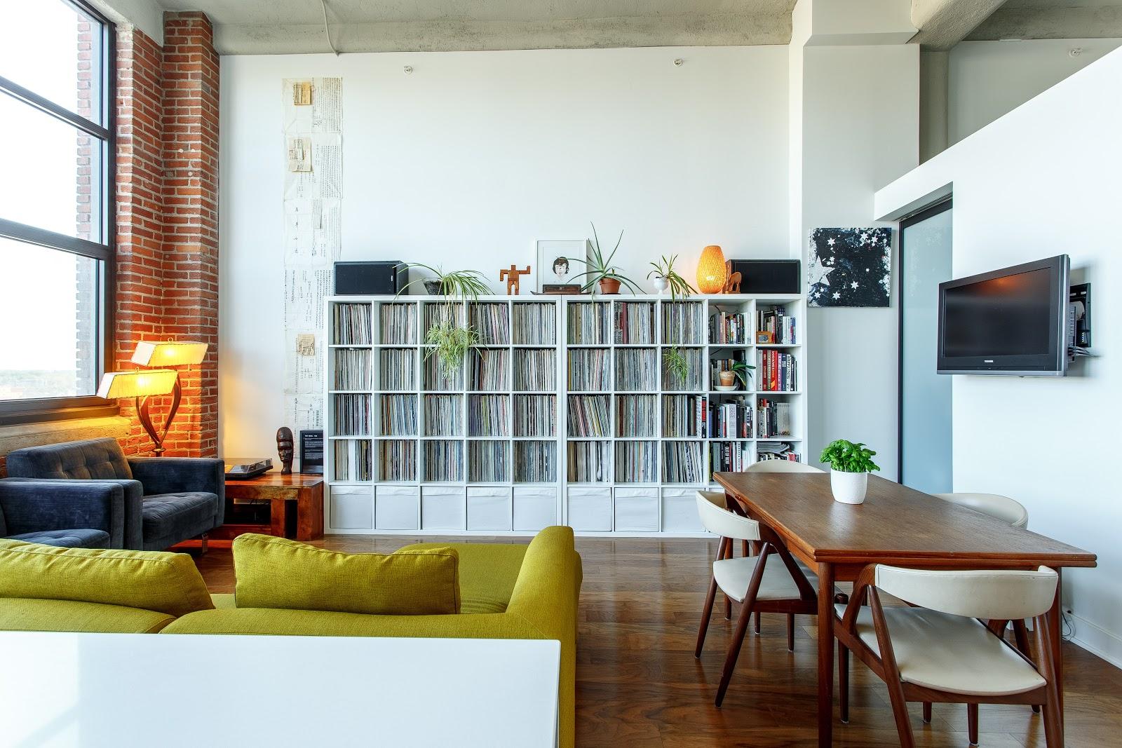 huge organized bookshelf