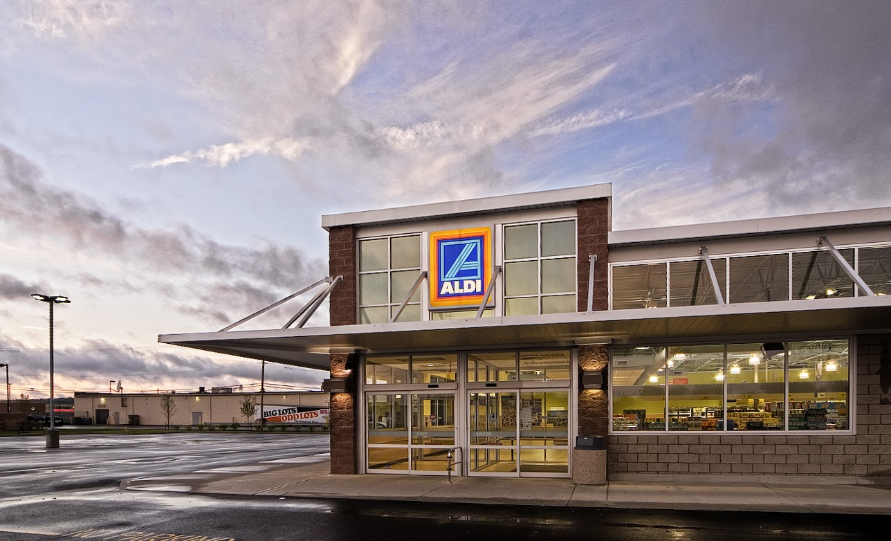 Outside view of an Aldi store
