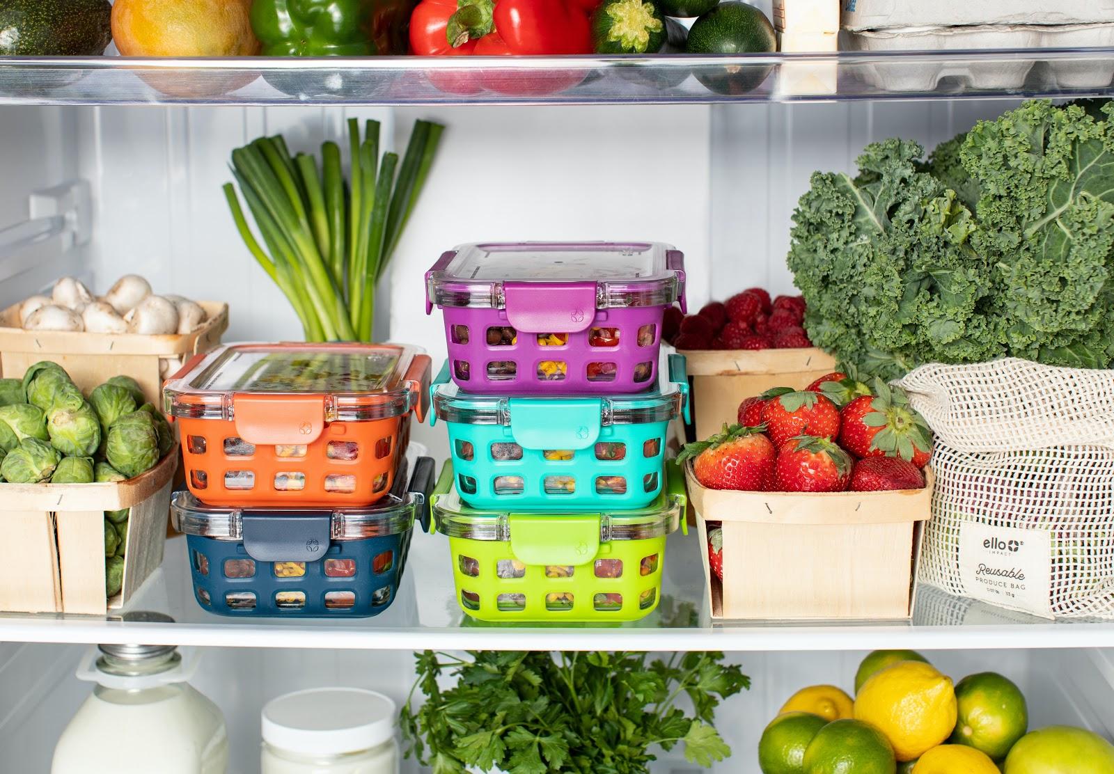 fresh vegetables in the fridge