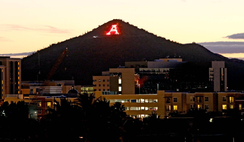 """A"" Mountain near university of Arizona"