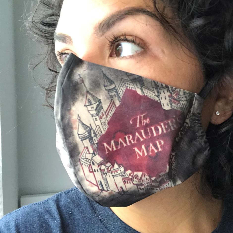 Marauder's Map Face Mask