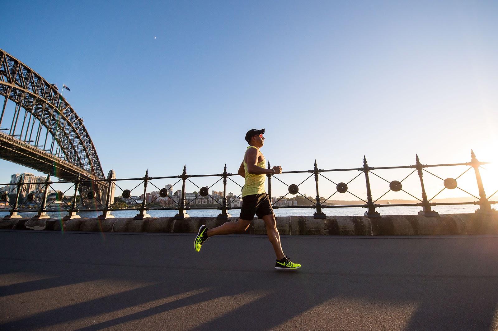 Guy taking a morning jog