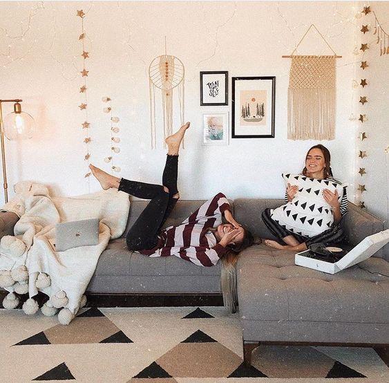 two women in communal living