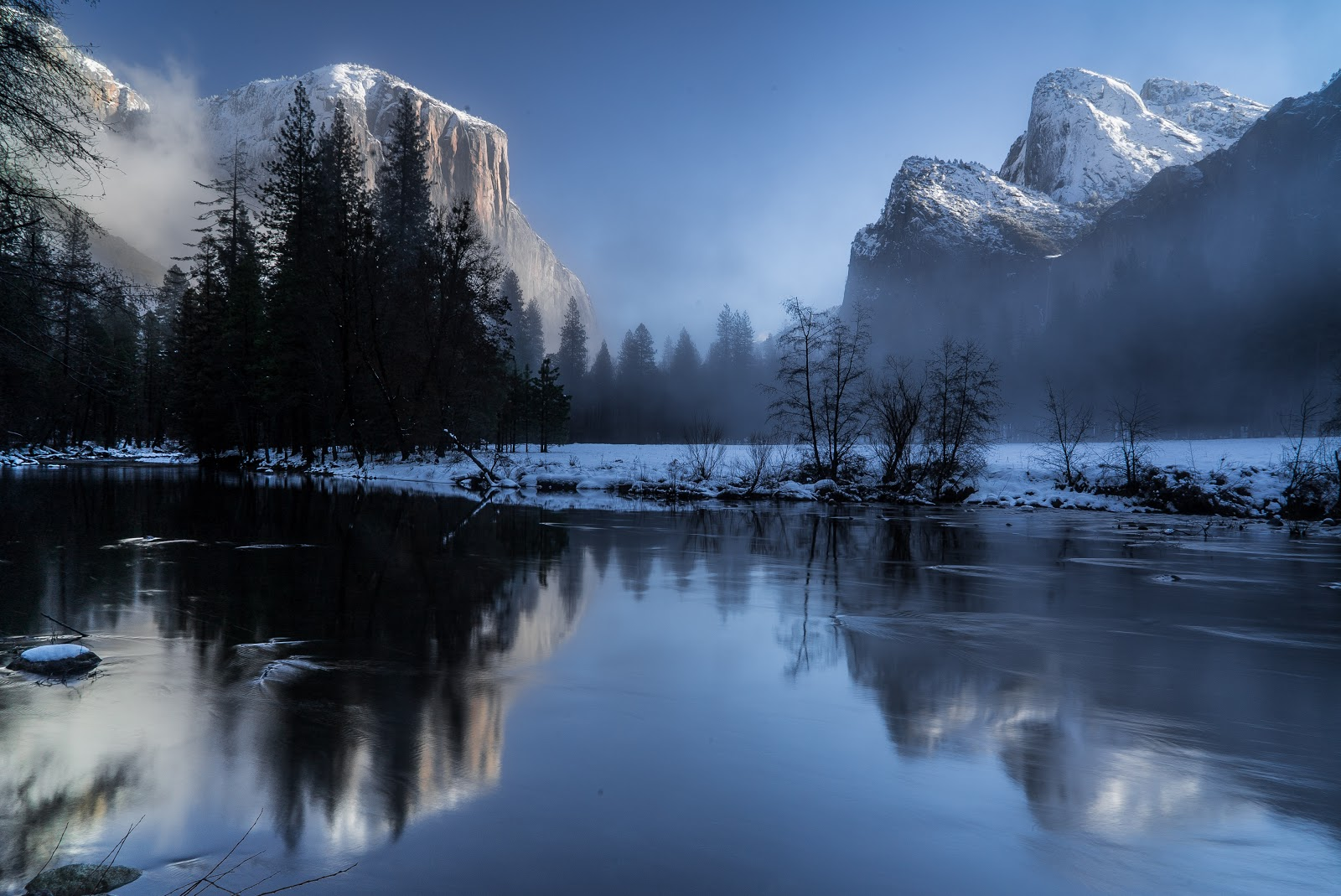 Magical Scenery of Winter in Yosemite