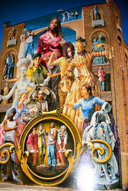 mural arts philadelphia, Common Threads by Meg Saligman