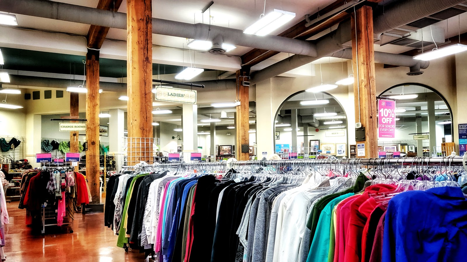 Huge department store filled with clothes