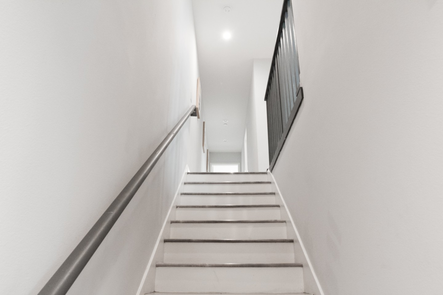 white indoor staircase