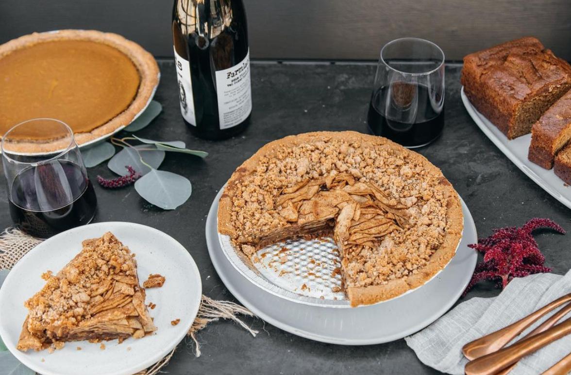 Vegan pie for thanksgiving