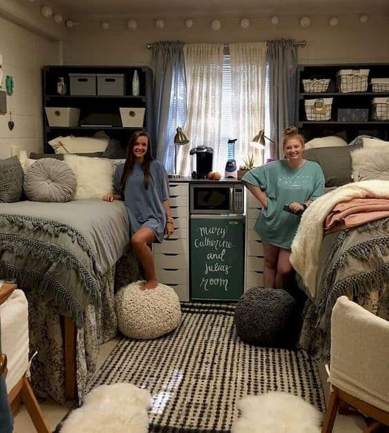 two women smiling in co-living home