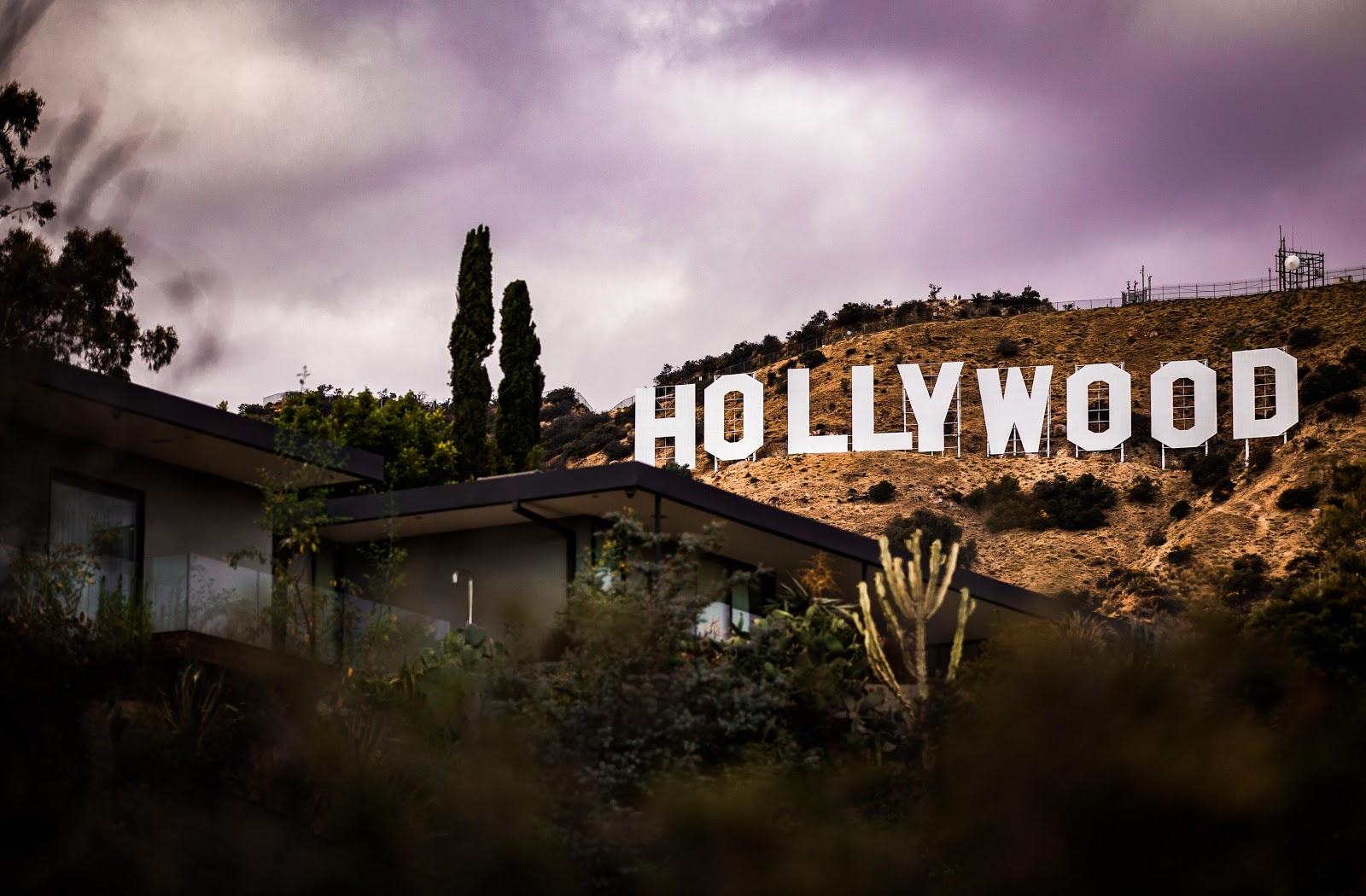 Hollywood sign in the hillls