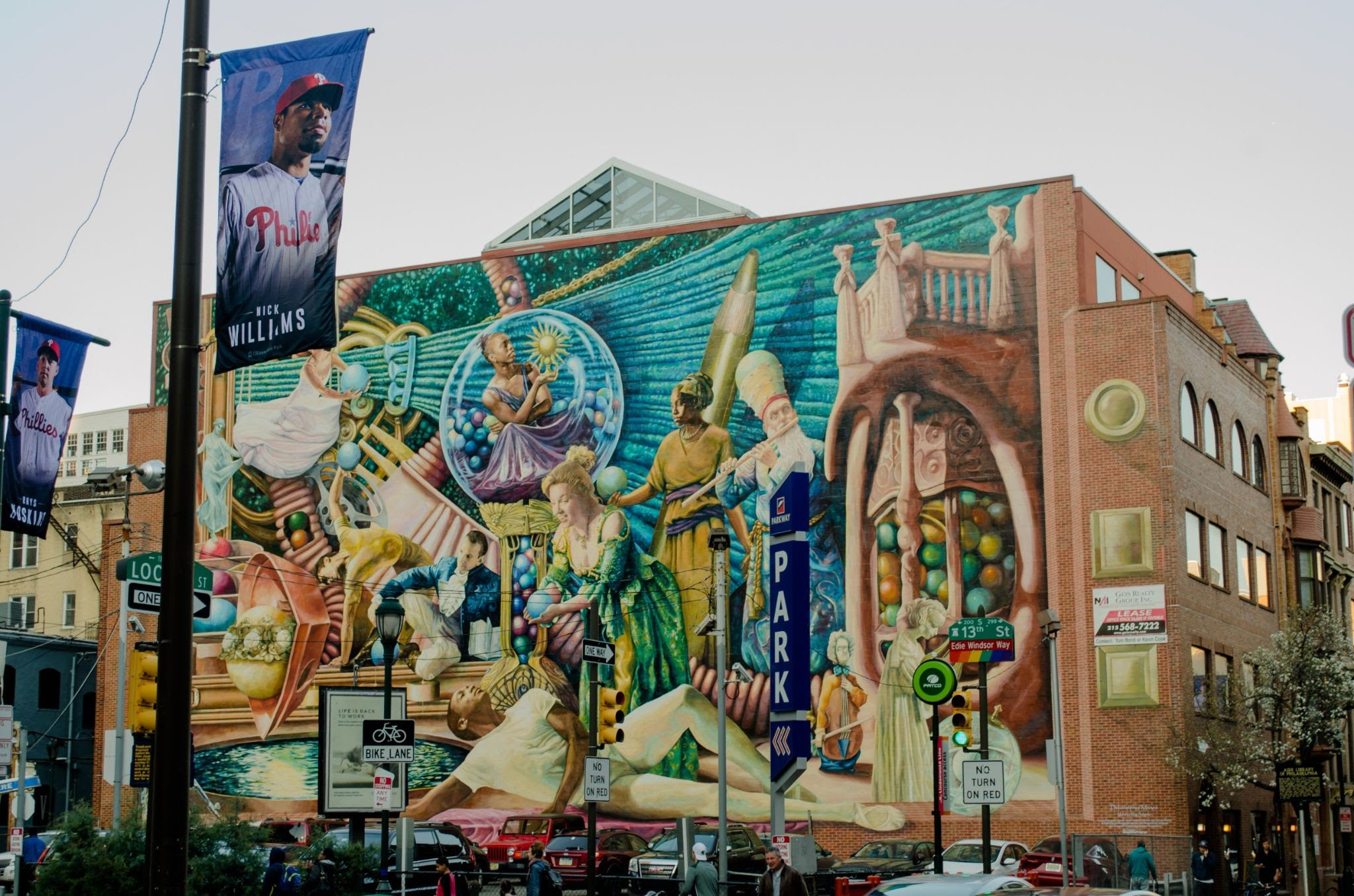 mural arts philadelphia, Philadelphia Muses by Meg Saligman