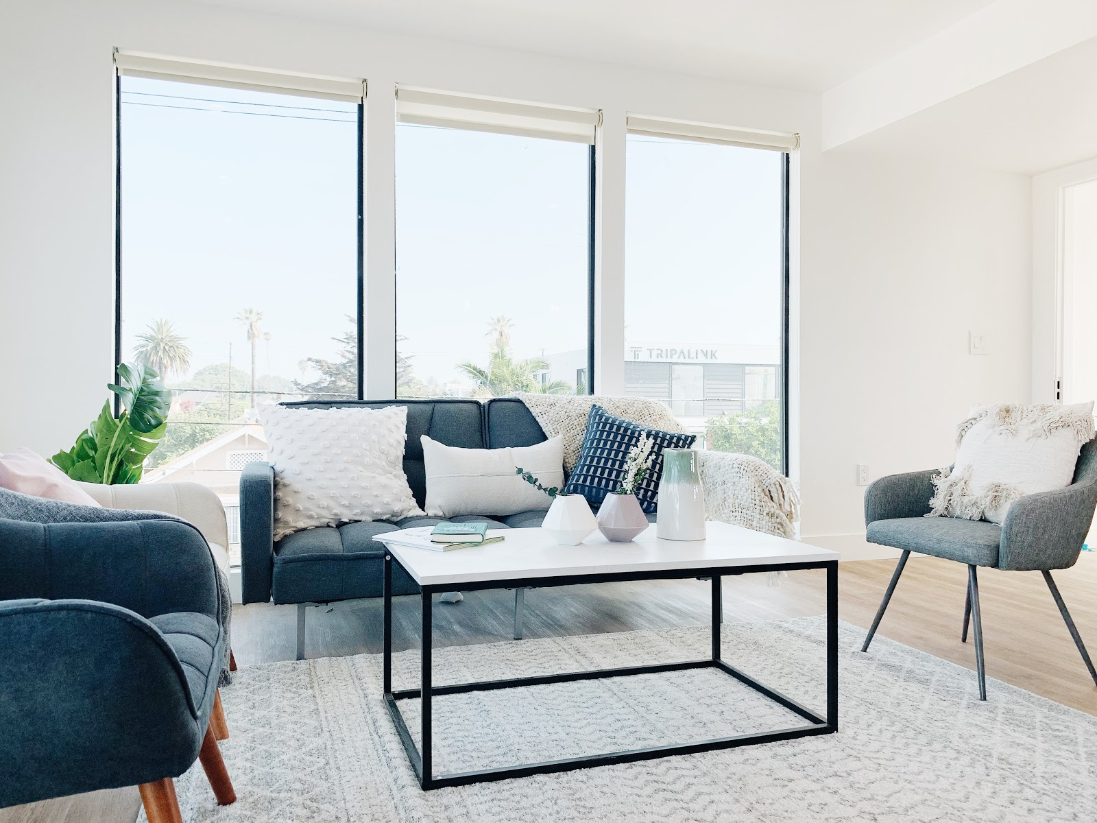 Tripalink living room with beautiful view