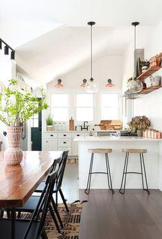 co living space for digital nomads, wood bar stools