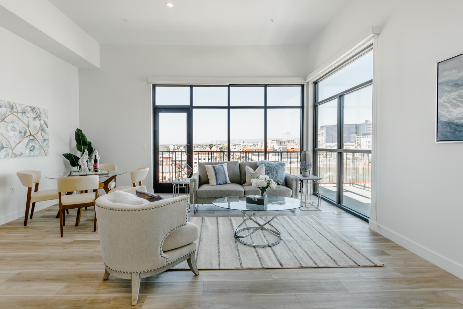 large bright co-living space