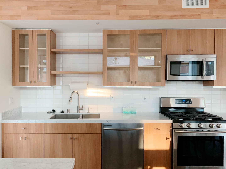 Cream wood kitchen