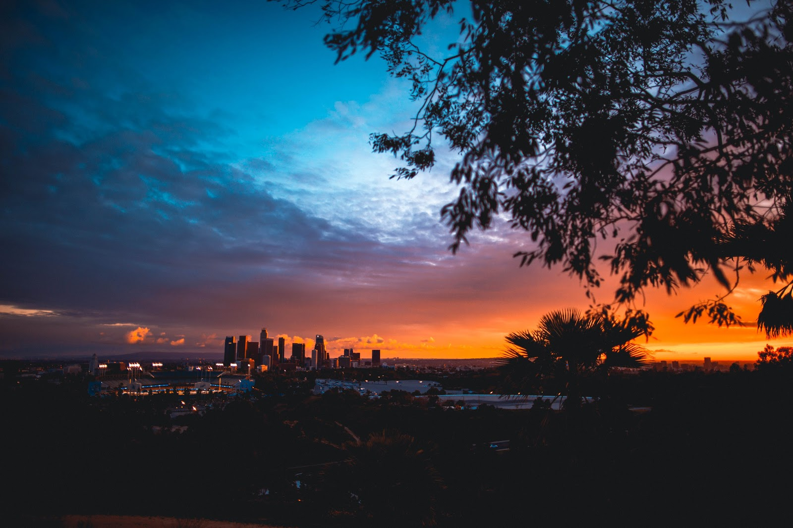 beautiful evening sky in Los Angeles