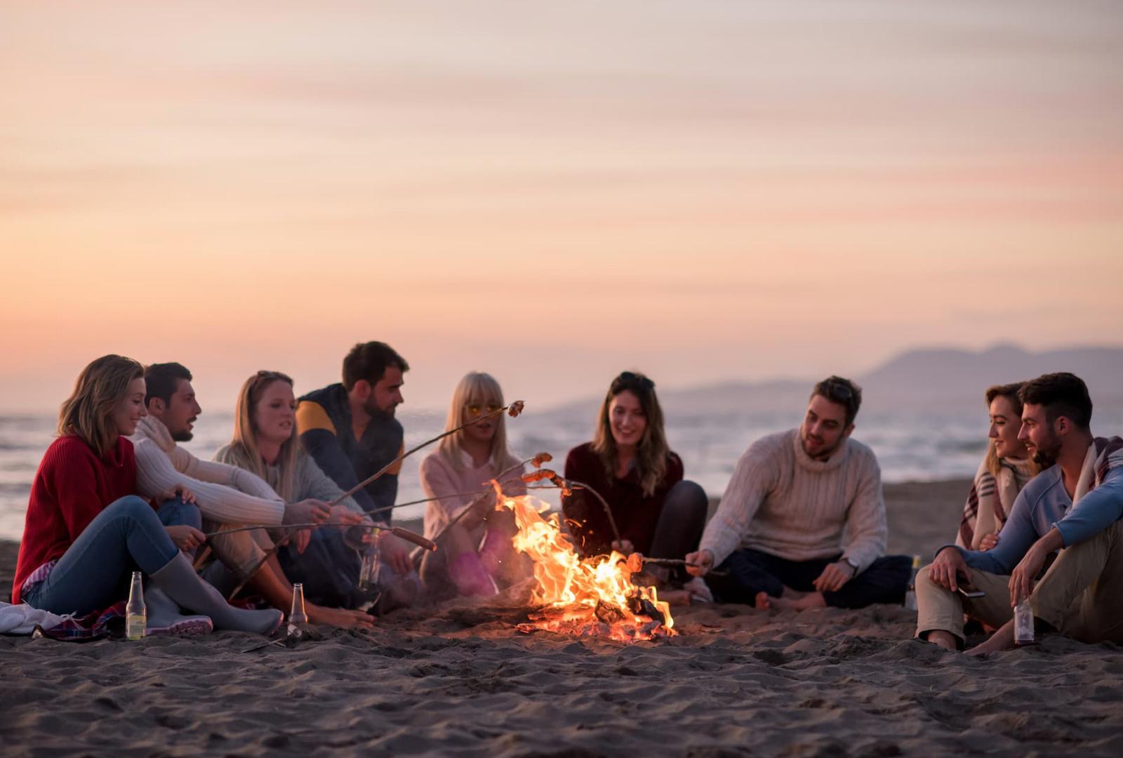 Bonfire at Dockweiler Beach